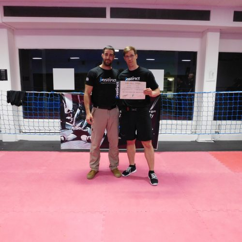 Krav Maga Instructor Sebastian Burkert und Kfir Itzhaki Instinct Integrated Israeli Combatives