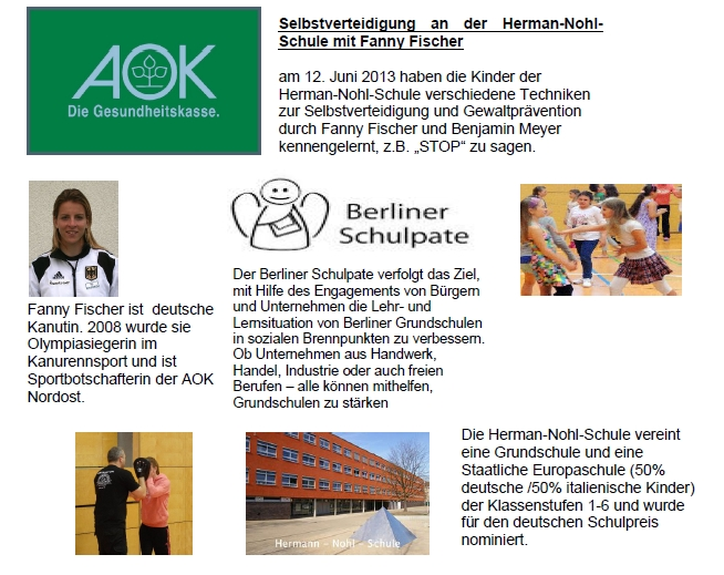 selbstverteidigung in der Schule mit Fanny Fischer - AOK Nordost